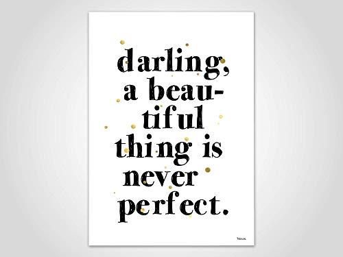 Darling — Poster, Bild, Kunstdruck, Skandinavisch, Typografie, Spruch, Sarkasmus, minimalistisch, Geschenk, Liebe, Familie, Freundschaft