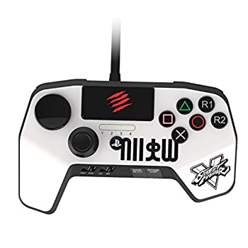 Mad Catz Street Fighter V FightPad PRO for PlayStation4 and PlayStation3 - White