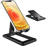 Losvick Support Téléphone, Portable Support Smartphone Multi-Angle Réglable Ultra Légère Universel Bureau Téléphone Dock PC pour iPhone 12, iPhone 11,Se,XR,P30 Lite,S20 et l'Autres d'Appareil - Noir