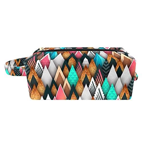 Make-up-Tasche Tragbare Reise-Kosmetiktasche Make-up-Set Tasche mit Tasche Reisetasche Organizer Case Aufbewahrungstasche für Frauen und Mädchen, , Abstrakte Stereoanlage