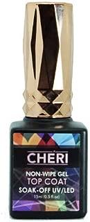 Cheri - Non-Wipe Gel Top Coat, Gel Polish, UV Led Soak Off Nail Polish, MADE IN THE USA