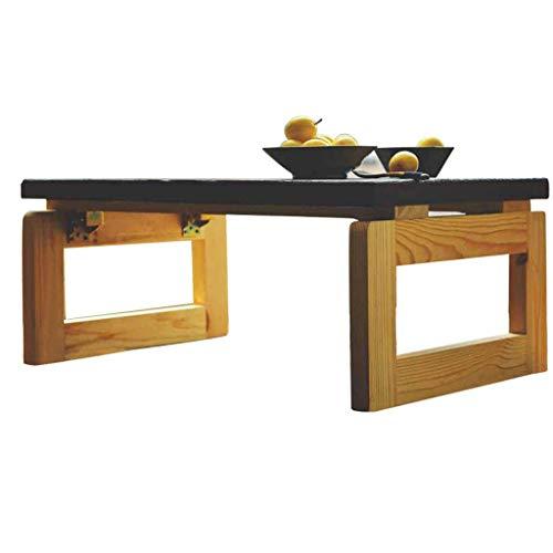 O&YQ Gateleg Tisch/Klapptisch Klapptisch Solid Wood Tatami Kaffeetisch Bay Window Table Kleiner Couchtisch Niedriger Tisch, Tischbeine aus Holz, 75 * 45 * 30 cm