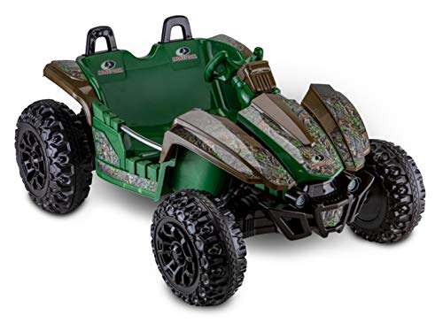 Kid Trax Mossy Oak Dune Buggy Ride-On Toy for Kids & Children Ages 3-7 Years Old with Room for Two Riders, Foot Pedal Acceleration for Forward & Reverse Driving with 12V Battery, Green/Brown