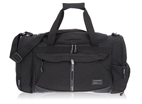 Alessandro / Elephant Sporttasche Mate Fitness Gym Tasche Reisetasche 55 cm / 45 Liter (Black Uni 2 (schwarz))