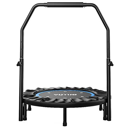 Outdoor Garden Jumping Rebounder Bouncer Trampoline Jumping Mat Safe Bungee Bed with Armrests Lean Aerobic Exercise Rebounder Padded Frame Cover Fitness Equipment Sports Weight Loss Device