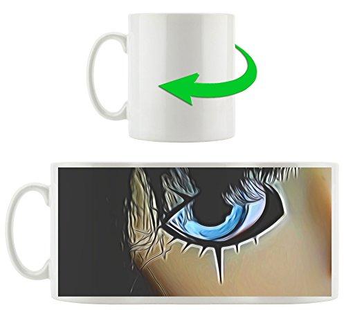 Manga doll motif tasse en blanc 300ml céramique, Grande idée de cadeau pour toute occasion. Votre nouvelle tasse préférée pour le café, le thé et des boissons chaudes.