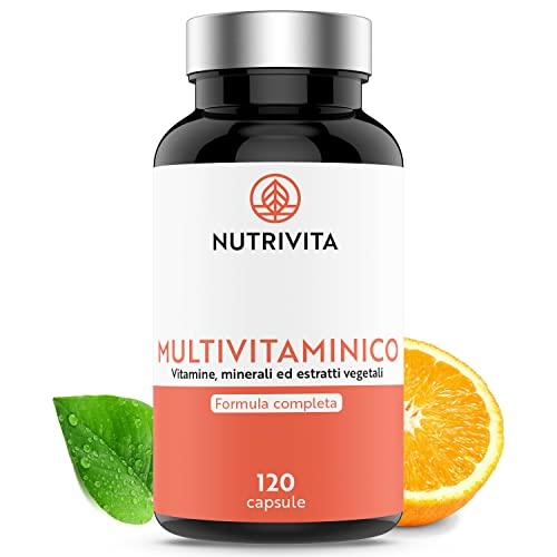 Multivitaminico   29 Vitamine, Minerali ed Estratti Vegetali Essenziali   Ingredienti Assimilabili e Naturali   Anti-Fatica, Anti-Stress e Antiossidante   120 capsule   Prodotto in Francia   Nutrivita