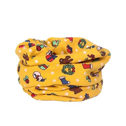 OULII Kinder Halstuch Schal Weihnachten Schals Schneemann Rentier Weihnachtsgeschenk gedruckt Baby Baumwollschal Halswärmer
