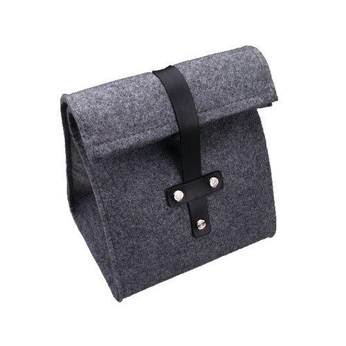 Exklusive GARIZ Designer Kamera-Tasche / Systemkamera-Tasche / Fototasche, aber auch passend für z.B. größere Systemkamera Objektive, aus dickem Filz mit Leder-Applikationen (XS-CPF1) ...(powered by SIOCORE)