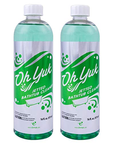 Oh Yuk Jetted Bathtub Cleaner for Jacuzzis, Whirlpools, The Most Effective Jetted Tub Cleaner, Septic Safe | Two 16 Ounce Bottles!