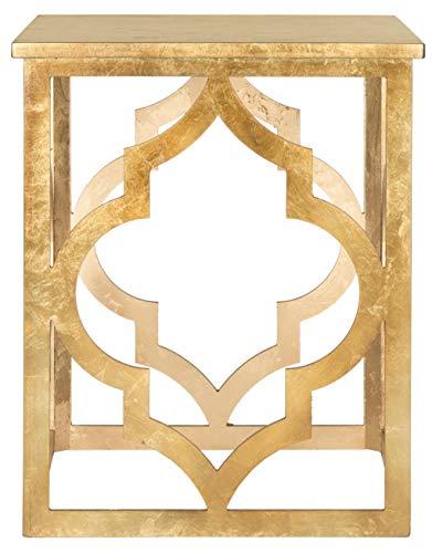 Safavieh Beistelltisch, Tannenholz, Gold, 47.00 x 47.00 x 58.42 cm