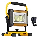 Luz De Trabajo LED De 100 Vatios, Luz De Inundación Impermeable Al Aire Libre IP65 con Soporte Desmontable, Foco De Luz RGB...