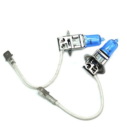 2 X H3 Blanc Lumière Lampe Avant Phare Halogène 12 V 55W Ampoule de Voiture