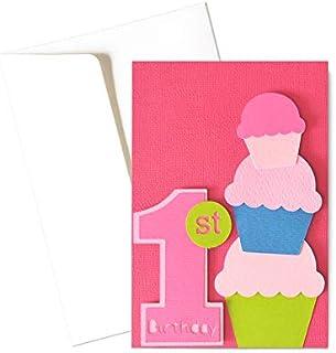 Il mio Primo compleanno - bambina - biglietto d'auguri (formato 15 x 10,5 cm) - vuoto all'interno, ideale per il tuo messa...