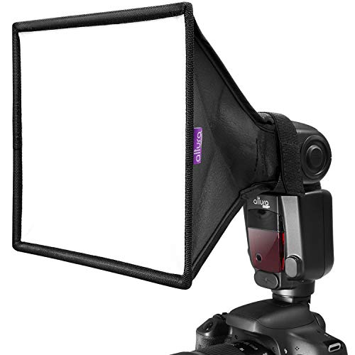 """Flash Diffuser Light Softbox 9x7"""" by Altura Photo (Universal, Collapsible with Storage Pouch) for Canon, Yongnuo and Nikon Speedlight"""