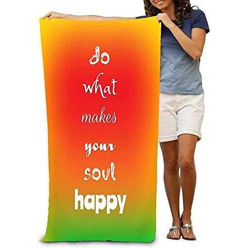 Yocmre strandhanddoek inspirerende citaat doen wat je ziel gelukkig maakt wazig decoratieve textuur inspirerende citaat doen wat