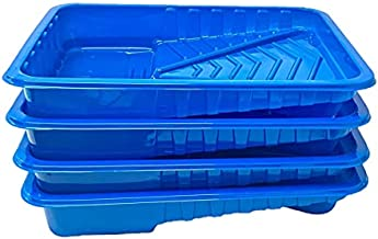 BRUFER 47150 4-Pack of Plastic Economy Disposable Paint Trays for 9