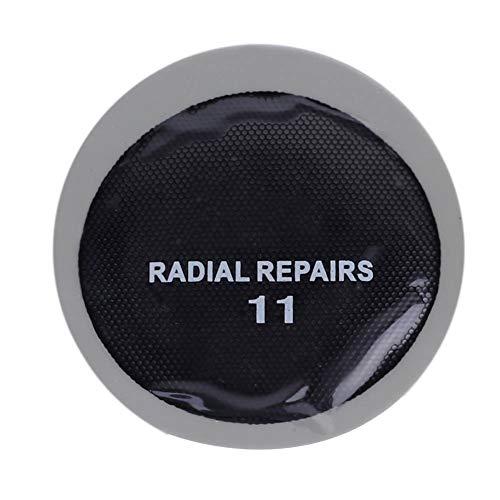 Reparación Duradera de pinchazos de neumáticos Parches sin cámara de Parche frío Llanta Redonda de Caucho Natural para Coche de 43 mm, para Deportes Escolares, para Montar