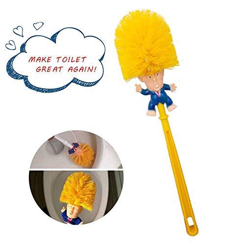 love planet Original Trump WC-Bürste, Trump WC-Bürstenreiniger, Neuheit Präsident Geschenke WC-Bürste, (Orange gelb)
