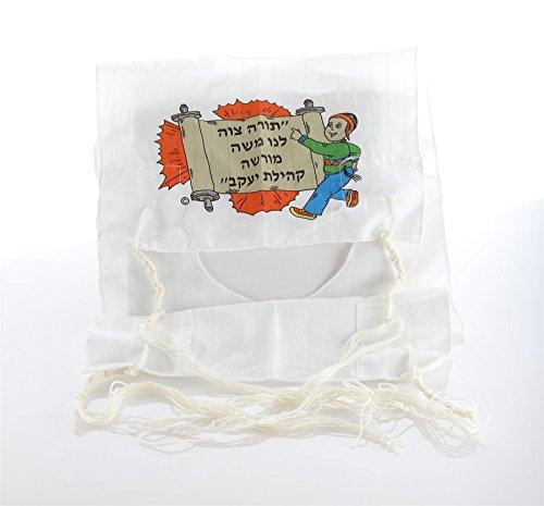 Tzitzit Kids Tsitsit Jewish Tallit Katan par Body-Soul-n-Spirit Accessoires, 100 % coton blanc