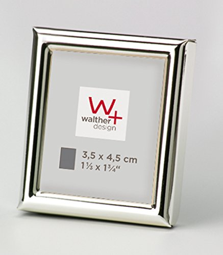 walther design WD354S Chloe Portraitrahmen 3, 5x4, 5 cm, silber