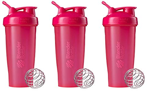 BlenderBottle Classic Loop Top Shaker Bottle 3-Pack, 28 oz (Pink)
