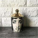 Fornase ttiqk Kerzenhalter Lina Face Vorratsbehälter Ceramic Caft Home Decoration Jewerlly Vorratsbehälter Candle Jar Penholder