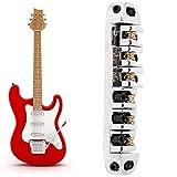 Pont de guitare électrique anti-oxydation, partie de guitare électrique, antirouille pour débutant en guitare(Chrome)