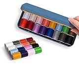 ZAIZAI Set de la línea de Agujas Inicio Paquete de Alambre de la Mano portátil de la Mano Caja de Costura del cajón multifunción (Color : A)