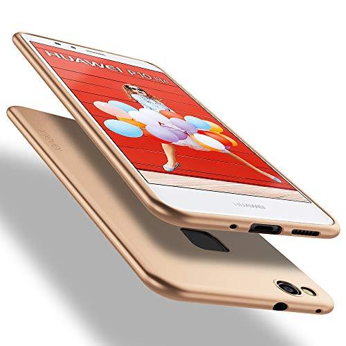 X-level Cover Huawei P10 Lite, [Guardian Series] Ultra Sottile e Morbido TPU Protettiva Custodia Silicone Rubber Protezione Cover per Huawei P10 Lite, Oro