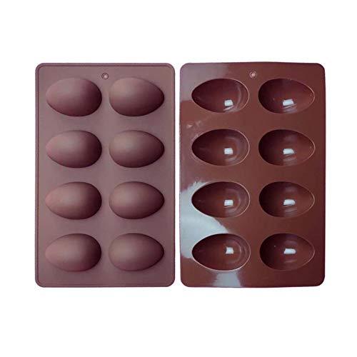 fllyingu 8 Kavität Osterei Silikonform Lebensmittelqualität Pralinen Formen DIY Backwerkzeuge Für Erdnussbutter Schokolade, Süßigkeiten, Muffin Kuchen, Cupcake, Jello, Seife, Joghurt EIS