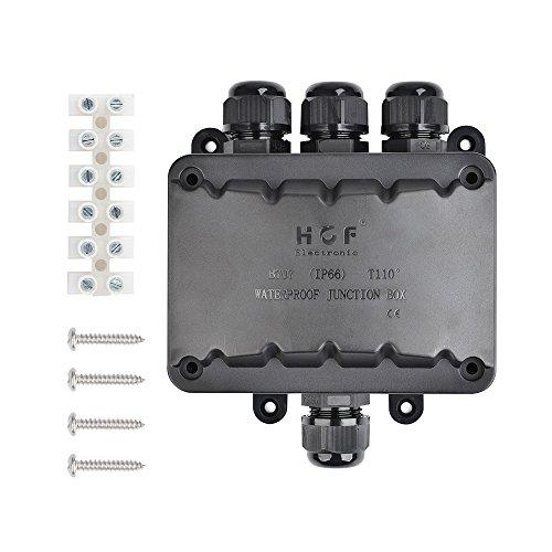 Abzweigdose IP66 wasserdicht Kabelverbinder 4-Wege-Verbindungsdose Außen Verteilerdose Kabeldurchmesser Ø 5mm-10mm