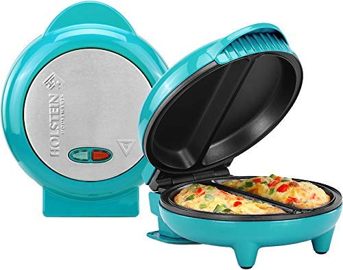Holstein Housewares HH-09125007E Omelet Maker, Teal (Renewed)