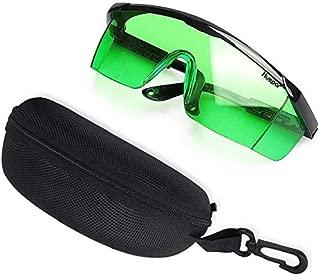 Green Laser Enhancing Glasses - Huepar GL01G Adjustable Eye Protection Safety Enhancement Glasses for Green Laser Level Alignment, Cross & Multi Lines (Protective Box Included)