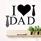 Adesivo da parete in vinile con citazioni staccabili 'I Love Dad' (lingua italiana non garantita)