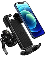UGREEN Cell Phone Holder Bike Phone Holder Motorcycle 360 Degree Safety Lock Bike Holder Mobile Phone Holder Handlebar Bike Accessories Compatible with iPhone 11 12 Pro Max Galaxy Xiaomi Huawei 6.8 Inch