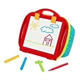 Battat – Lap Drawing Magnetic Board – Portable Drawing Pad Easel for Kids – Draw & Doodle – Includes 4 Color Markers & Storage Space – Travel Toy for Car, Stroller – 2 Year Old + (BT2663Z)