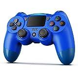 BestOff - Mando inalámbrico para PS4, controlador inalámbrico para PlayStation 4/Pro/Slim, panel táctil con doble vibración, turbo y toma de audio, joystick Bluetooth para PS4