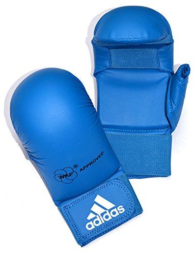 adidas WKF Karate-Handschuhe mit Daumen, Größe XL, Blau