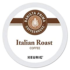 Includes Barista Prima Coffeehouse Italian Roast K-Cups 96ct for Keurig Brewers - Packaging May Vary Brewing occurs inside the K-Cup so no flavor residue is left behind to spoil the next cup. Single-serving packaging means no mess or wasted pots of c...