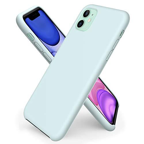ORNARTO iPhone 11 Silikon Case, Hülle Ultra Dünne Flüssig Silikon Handyhülle Schutz für iPhone 11 (2019) 6,1 Zoll -Meerschaum