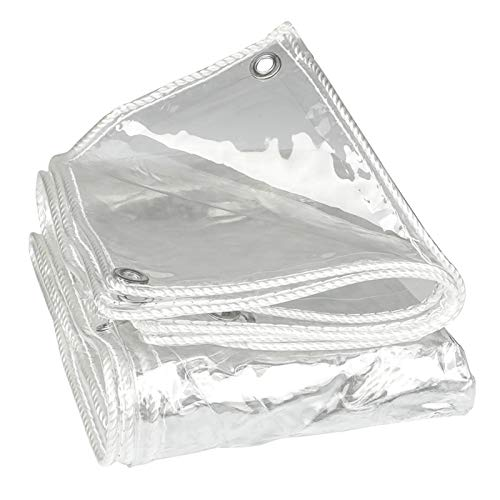 DLMSDG Lonas para Piscinas, Lonas Transparentes, Toldo Reforzado Lona Impermeable, Jardín Exterior Protección contra La Lluvia Resistencia Al Desgarro Plástico Plegable(2x5m(6.6x16.4ft))