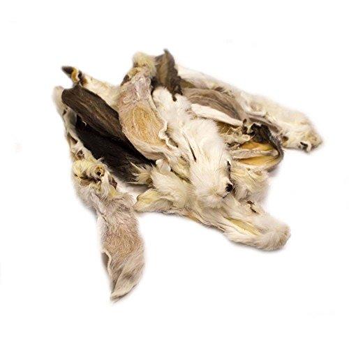 veritas Kaninchenohren mit Fell für kleine und große Hunde – Hasenohren mit Fell I Natur Kausnack Hundeleckerlie Hundesnack Kauspaß Leckerlie (1000g)