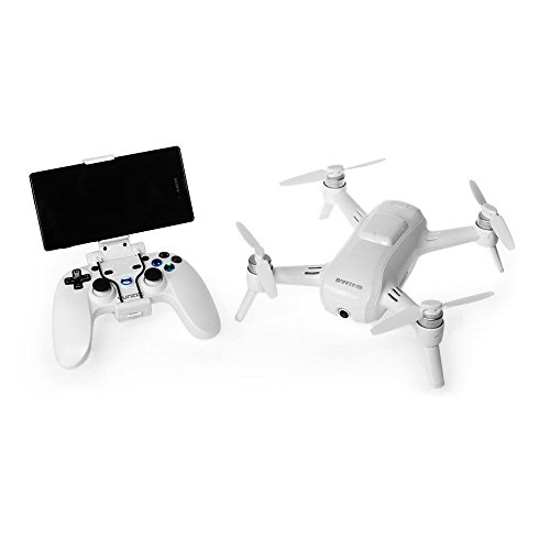 Yuneec YUNFCAUS Breeze Compact Smart Drone Ultra HD 4K Video, White with Bluetooth Controller