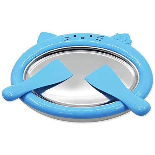 Pan Rollenschale Eismaschine Geschirr Mit 2 Spachteln Für Eine Einfache Hausgemachtes EIS, Gelato, Sorbet-Hersteller Portable Leicht Zu Reinigen,Blau