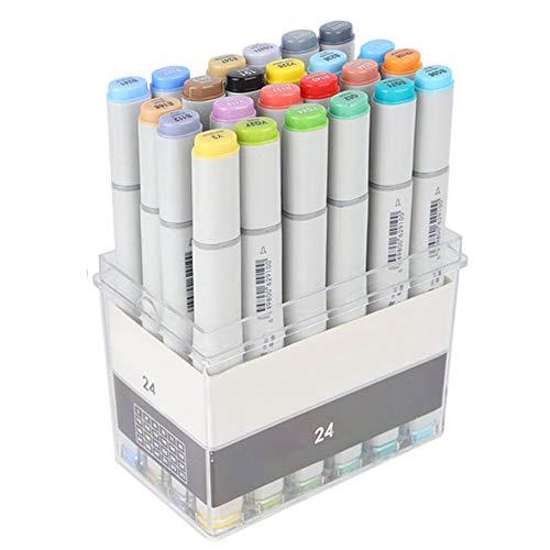 SHYEKYO Pluma De Pintura, Dibujo Duradero para Diseño De Interiores De Paisajes para Diseño De Ropa(24 Colores)