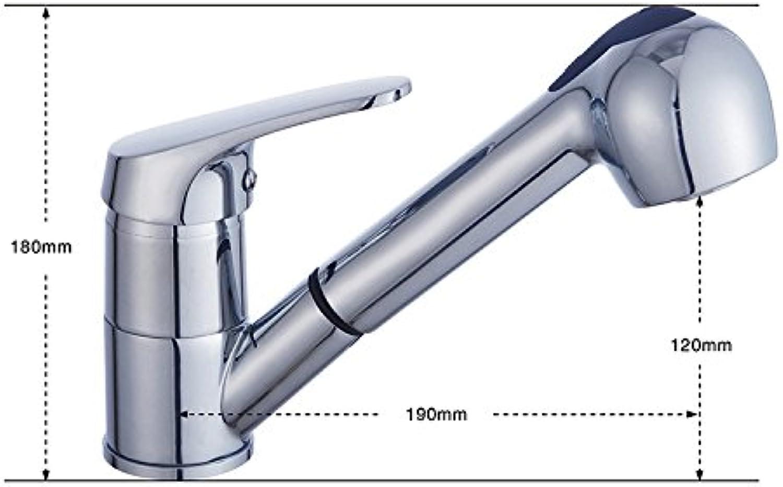 SHLONG Warmes und kaltes Becken Wasserhahn Kupfer Wasserhahn Waschbecken Wasserhahn