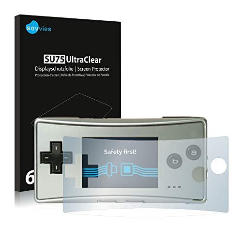 savvies 6-Pezzi Pellicola Protettiva Compatibile con Nintendo Gameboy Micro Protezione Schermo Trasparente