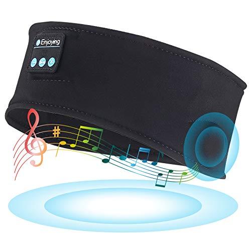 ORROKER Auriculares para Dormir Diadema Bluetooth, Diademas Deportivas con música inalámbrica Suave para Dormir, Auriculares para Dormir Durante Mucho Tiempo con Altavoces estéreo de Alta fidelidad