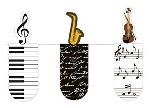 moses. 31122 Magnetlesezeichen Musik 3er Set, magnetisches Lesezeichen, charmant illustriert